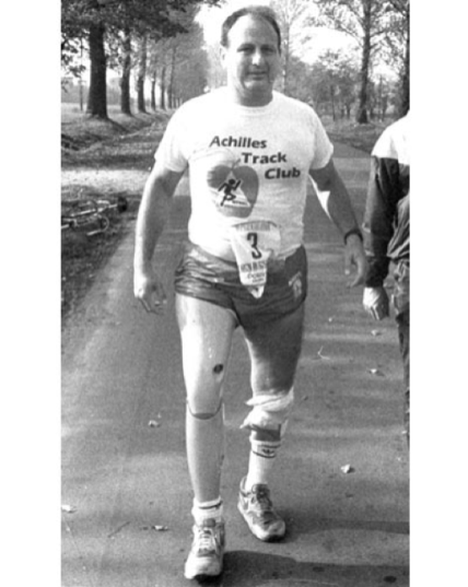 Dick Traum runs one of the first races of Achilles' existence