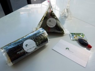 Soft Shell Crab Handroll and Grilled Salmon Onigiri