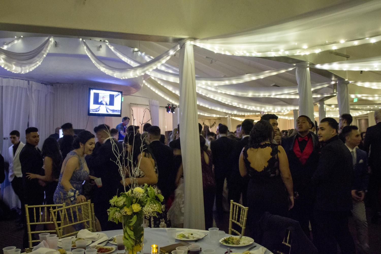 The dance floor inside The Vineyards.
