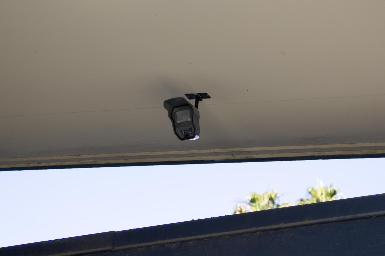Surveillance cameras were installed around the campus.