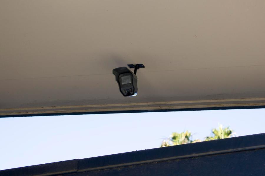 Surveillance+cameras+were+installed+around+the+campus.