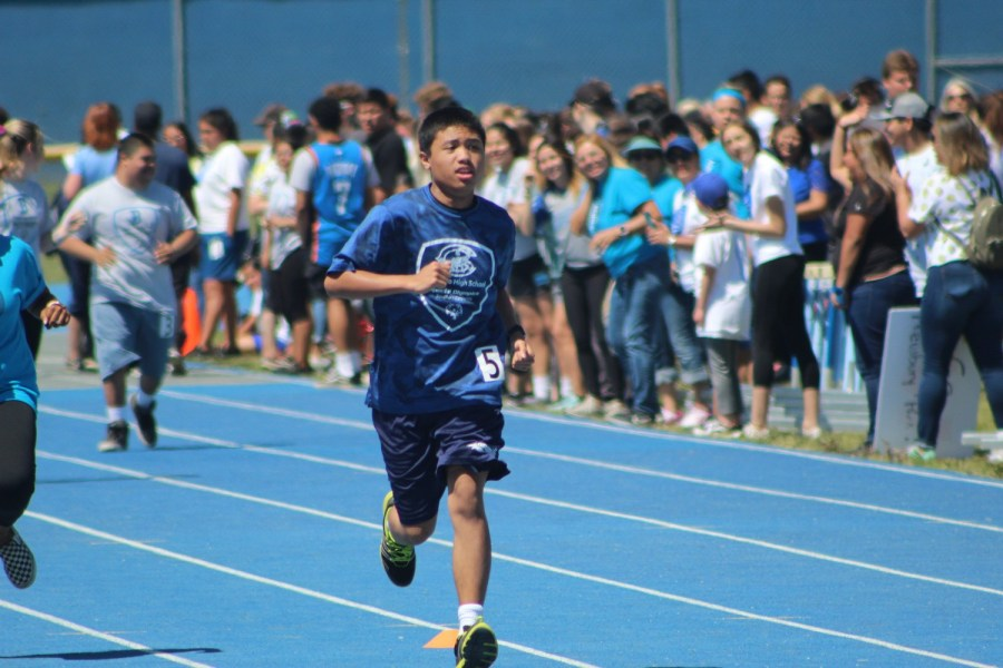 James+Labsilica+runs+the+100+meter+event+at+the+Special+Olympics+Track+Meet%2C+on+Friday%2C+April+19%2C+2019.