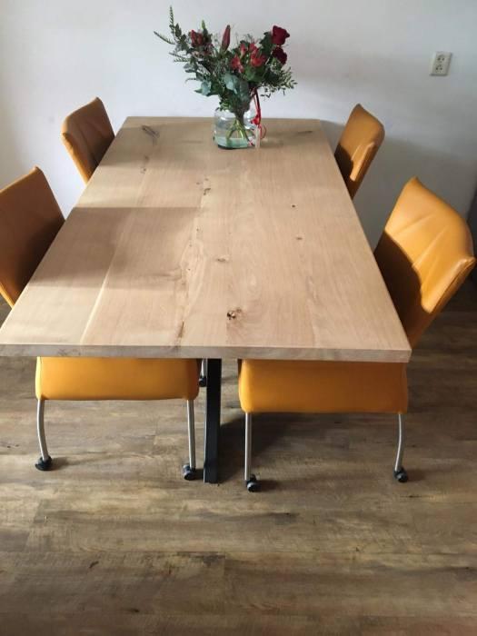1800-2200 eiken tafel: door Achterhoektafels.nl