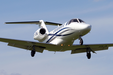 Owned by Varaždin-based WinAir, this Cessna CitationJet CJ2+ was the only bizjet performer at the show, finishing its display with a few very un-bizjet-like low passes