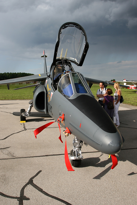 The sleek and curvy Dassault-Dornier AlphaJet E. What a beautiful machine!
