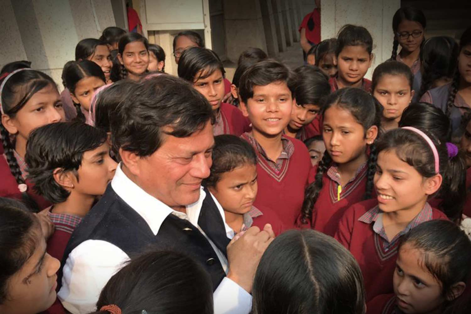 Humanitarian Activities by Achyuta Samanta with Students