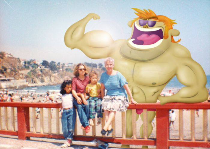 Monsters Invading Old Photos (50 pics)