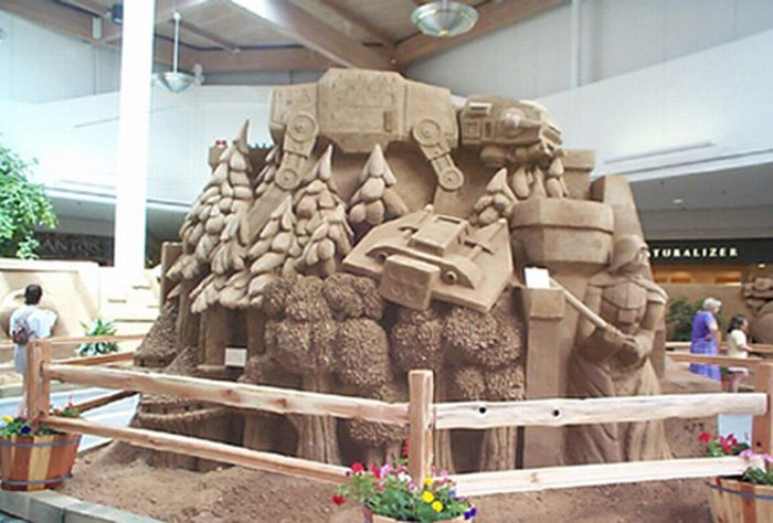 Detailed  Star Wars Sand Sculptures (21 pics)