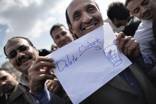 Foto Unik dan Lucu Dari Aksi Demo di Mesir