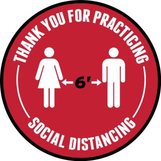 6 Feet Apart Social Distancing Floor Decal