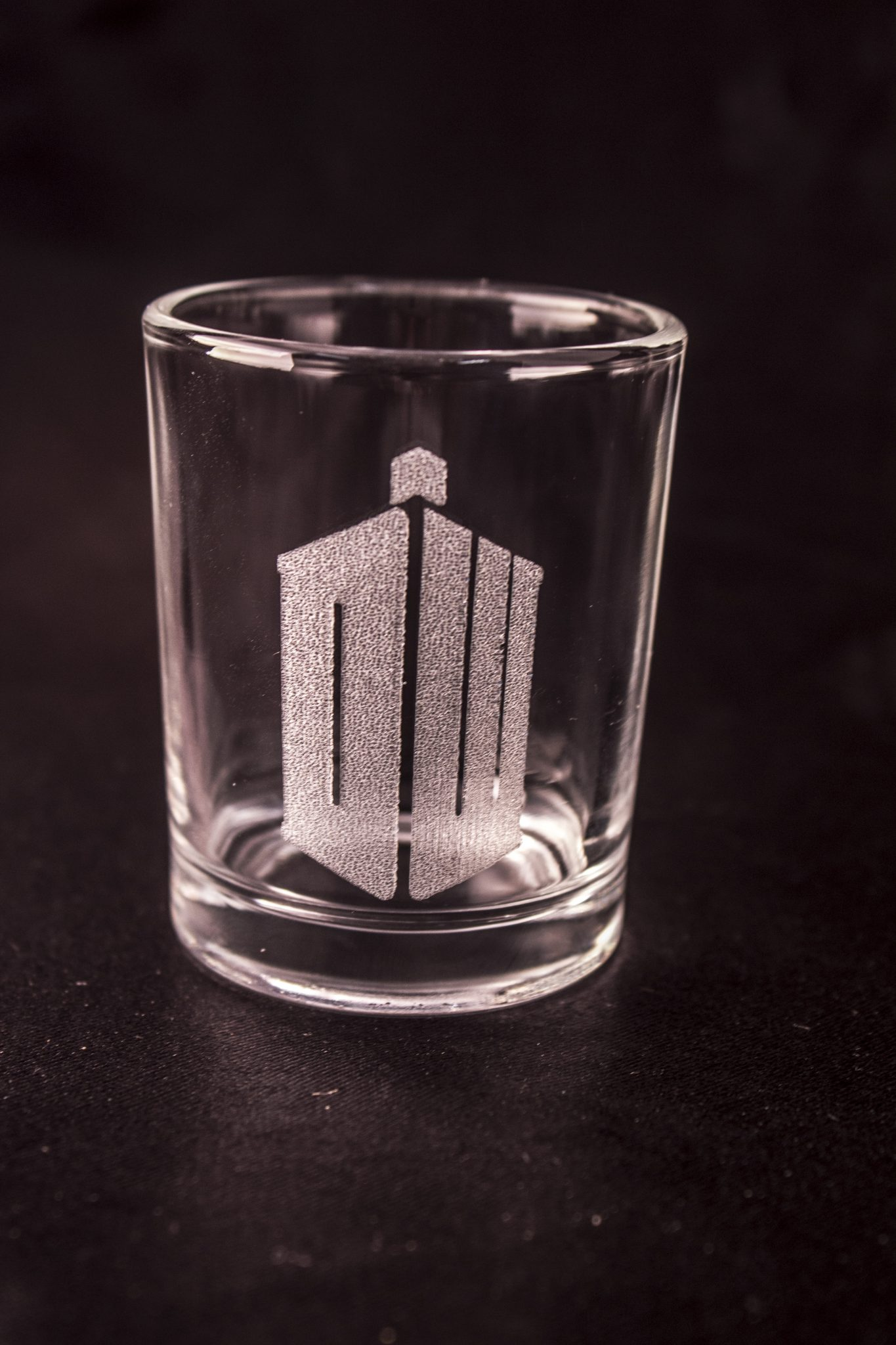 dc830ab0adb Doctor Who Shot Glass – Doctor Who Logo – Acid Ink Designs
