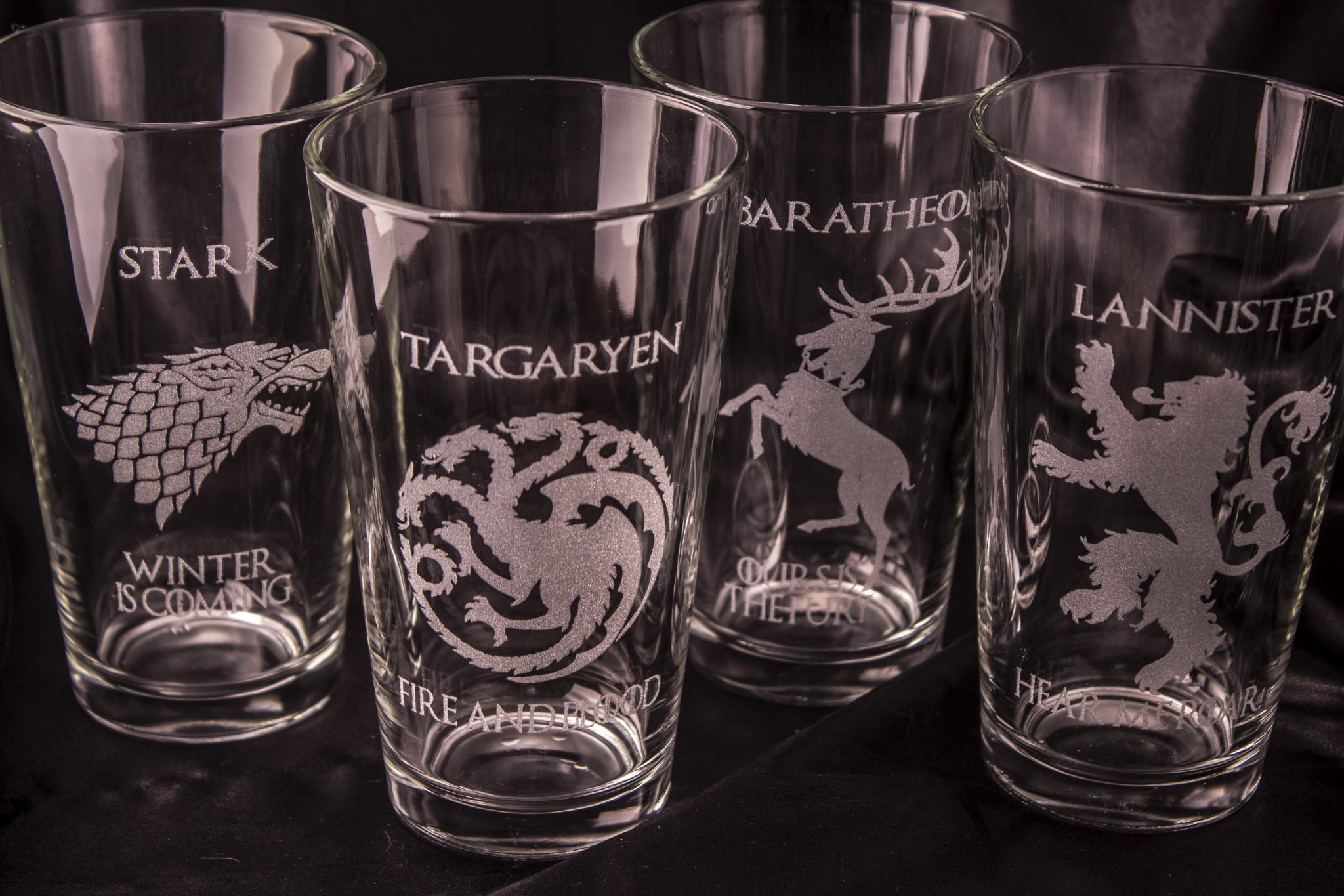 House Greyjoy Etched Pint Glass Game of Thrones