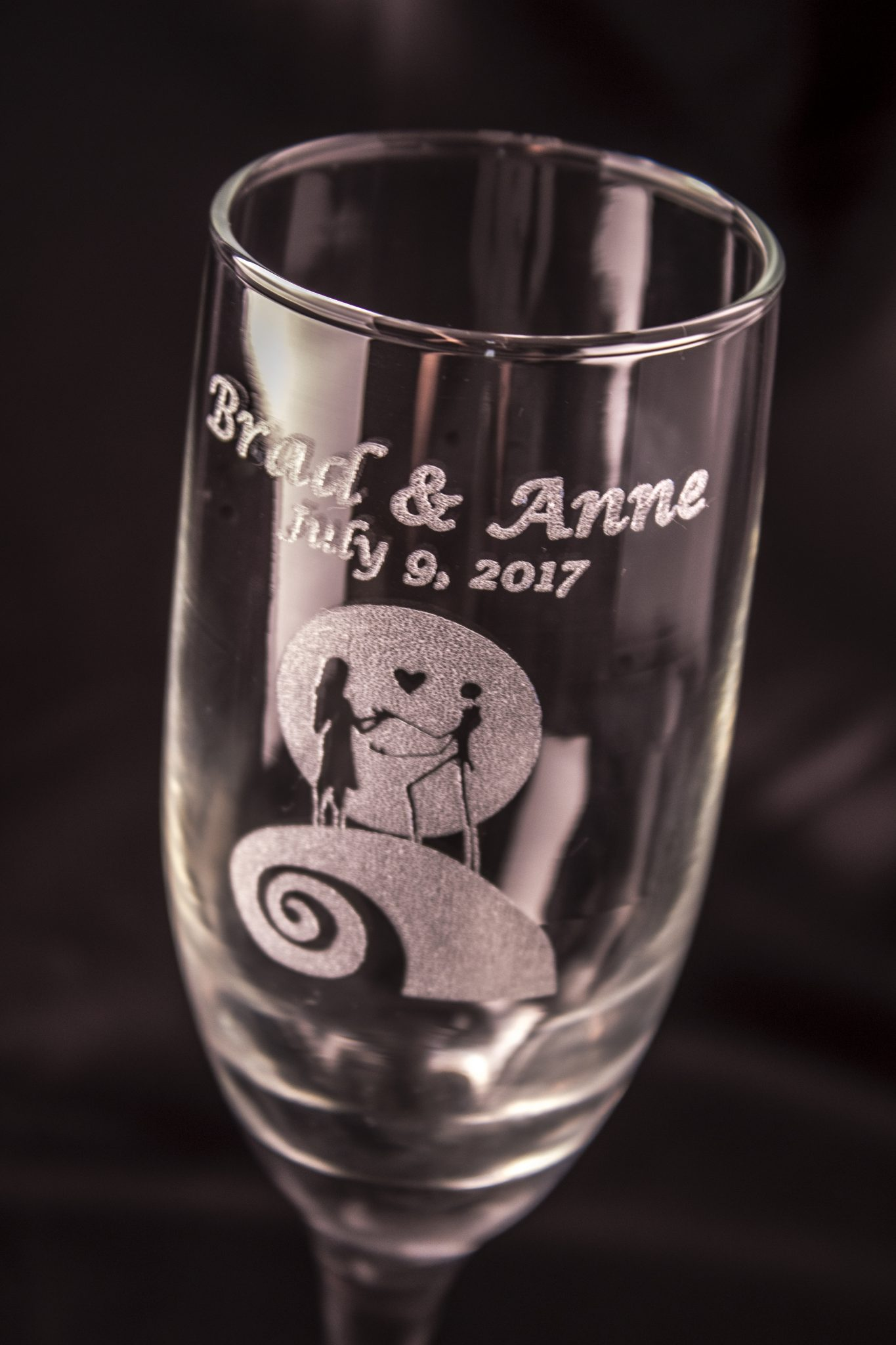 Nightmare Before Christmas Champagne Glass Set – Acid Ink Designs