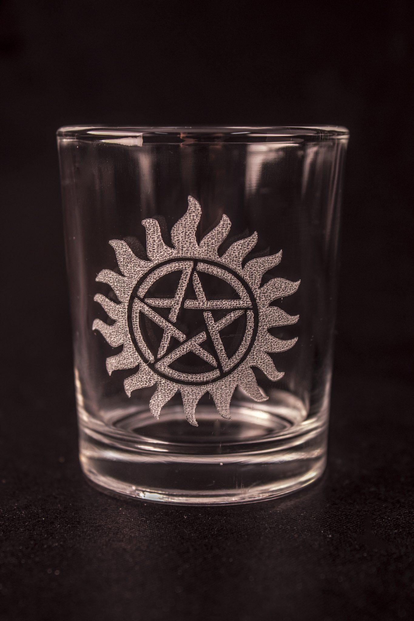 Supernatural Shot Glass - Anti-Possession Symbol