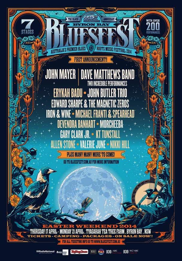 Byron Bay Bluesfest 2014 - Poster