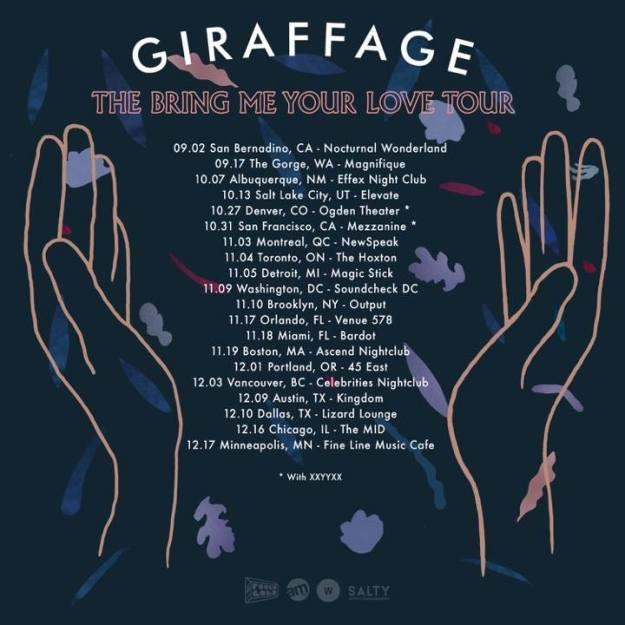 Giraffage - US Tour - acid stag