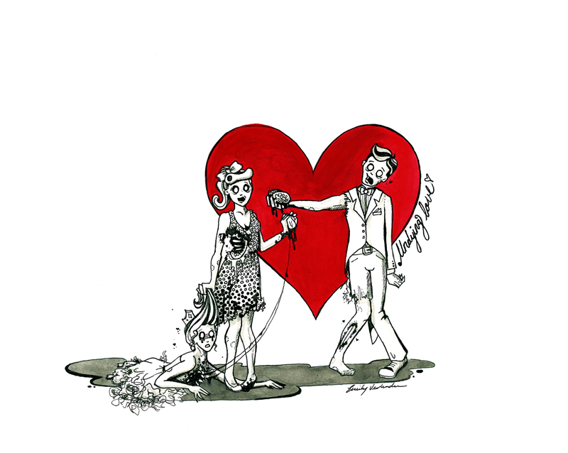 Cute Bees Wallpaper Zombie Valentine Undying Love