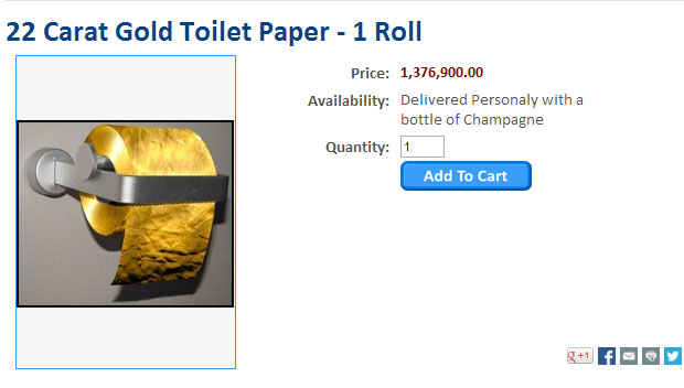 Gold Toilet paper 1