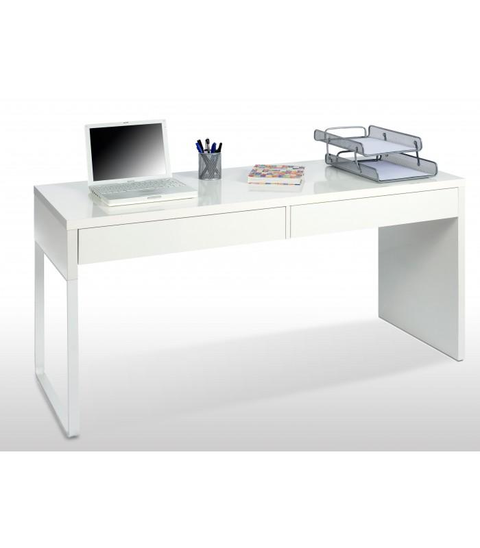 BIANCA Mesa escritorio reversible con 2 Cajonesacabado