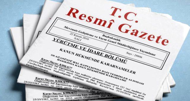 Valiler kararnamesi resmi gazetede yayınlandı