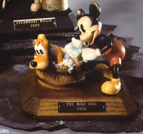 Disney Mickey Amp Pluto Anri Wood Carving LE Renas