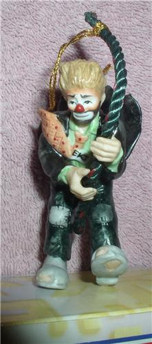 Emmett Kelly Jr Rope Climber Circus Clown Ornament Rena
