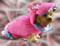 Dog Puppy Costume - Pink Hippo - BarkinWoofer