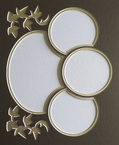 custom double collage mat