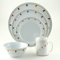 Galleyware Flags Design Dinnerware Set