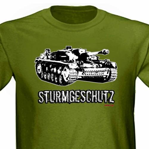 Stug III Sturmgeschutz Panzer Tank Ww2 Assault Gun Tee Shirt green.jpg