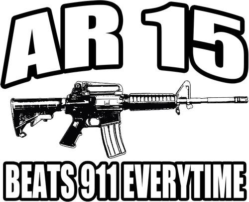 Ar15 Assault Rifle 223 Caliber M16 2nd Amendment Decal