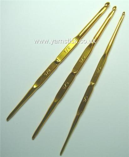 Gold Tulip Crochet Hooks - Mine was the one with 3 and 4 on the Grip