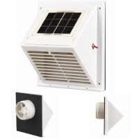 Solar Powered Vent Extractor Roof OR Wall Mounting Exhaust ...
