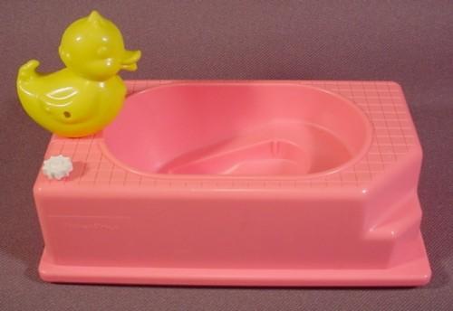 Barbie Dollhouse Kelly Pink Bathtub With Rubber Ducky 5