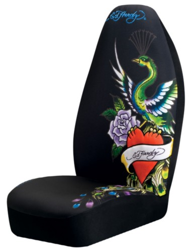 Ed Hardy Peacock Seat Cover Pair Everything4cars