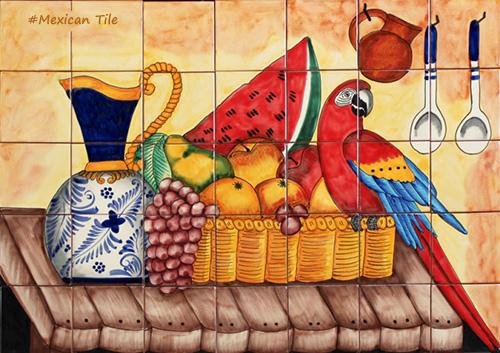 kitchen tile mural