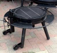 "30"" Outdoor Fire Pit With Grill Top, Made In Texas"