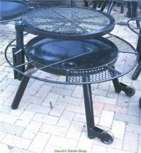 "48"" Outdoor Fire Pit With Grill Top, Made In Texas"