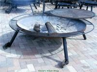 "72"" Outdoor Fire Pit With Grill Top, Made In Texas ..."