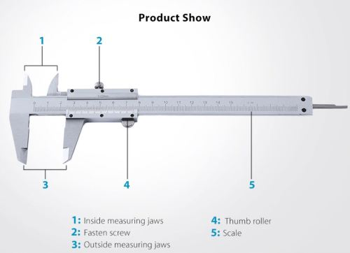 small resolution of drawing of a 1 50 0 02mm vernier caliper 150mm type 7720 acinate bazzar