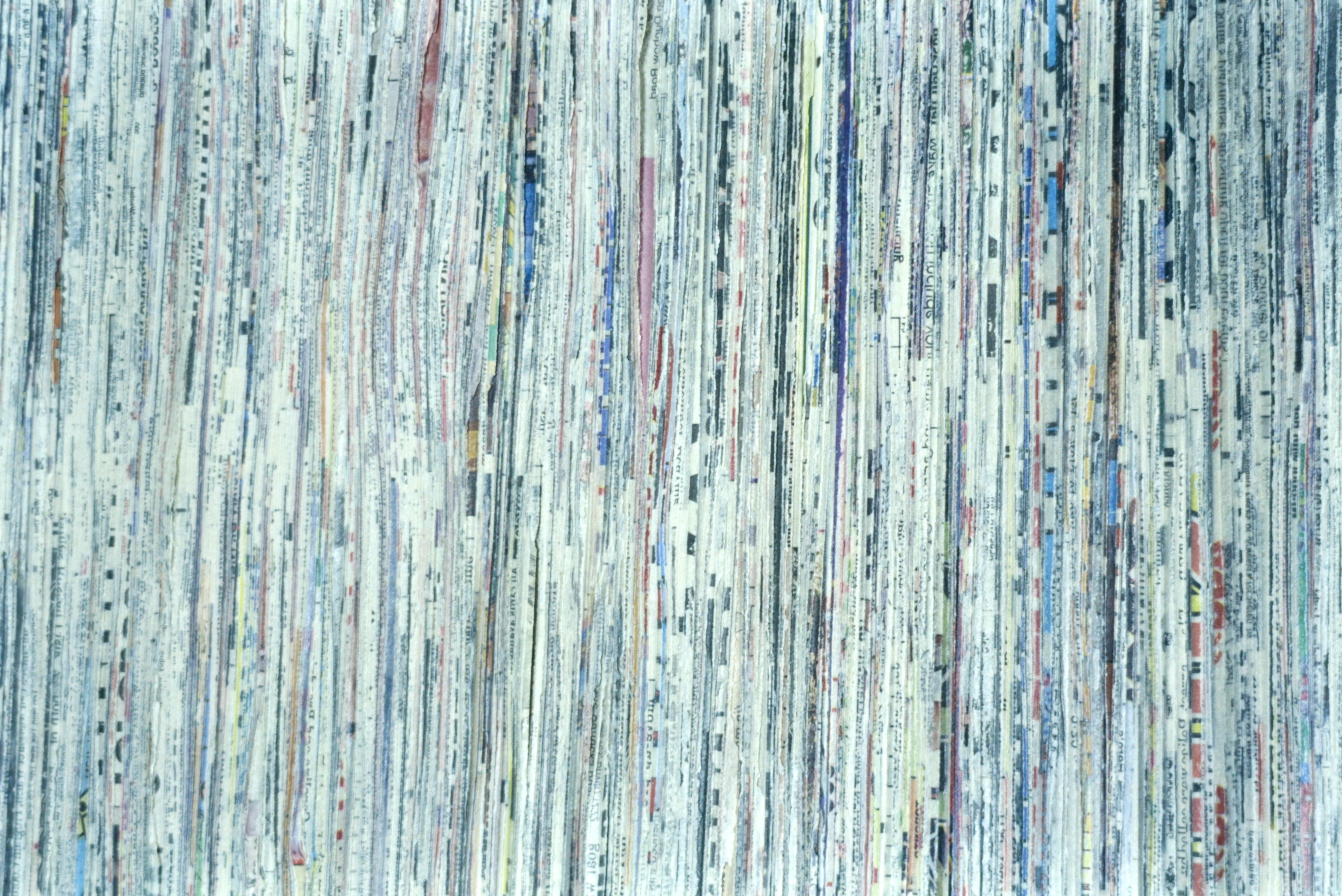 "the sun:  The Calgary Sun on birch (1996) 2' x 2' x 2"", collection Alberta Foundation for the Arts"