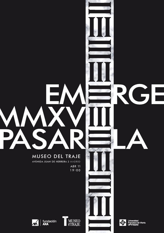 VII edición de Emerge Pasarela en el Museo del Traje - Acis&Galatea