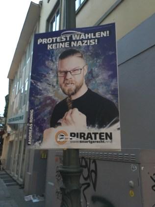 """Vote against Nazis!"""