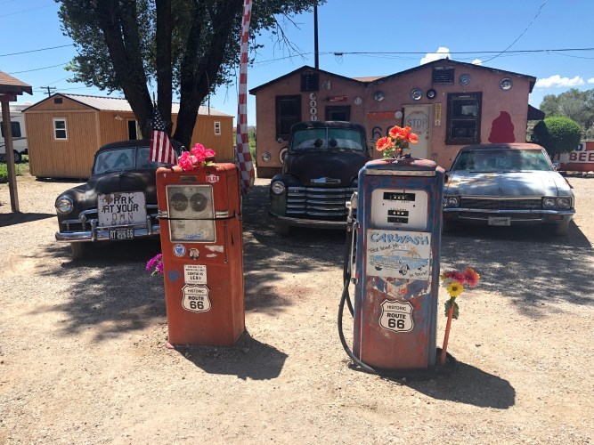 Delgadillo Snow Cap Diner Seligman Arizona Route 66