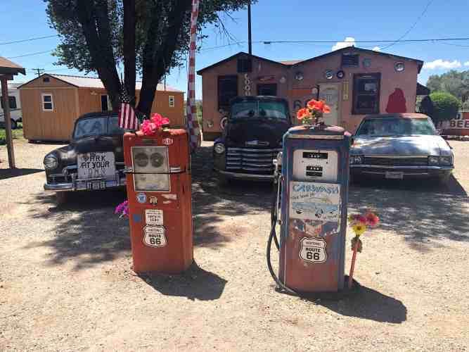 Delgadillo Snow Cap Diner Seligman Arizona Route 66