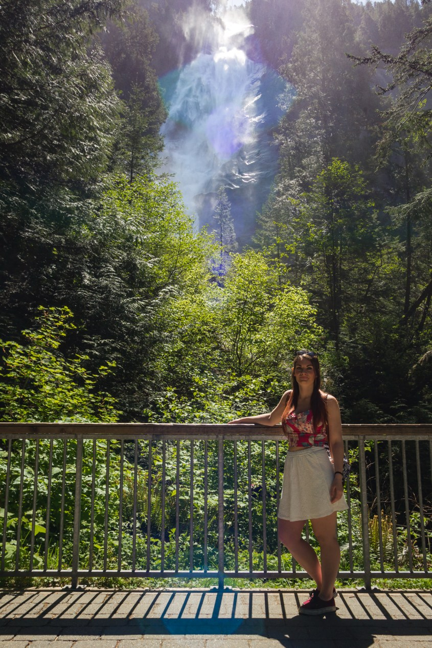 Shannon Falls in Squamish, British Columbia, off the Sea to Sky Highway