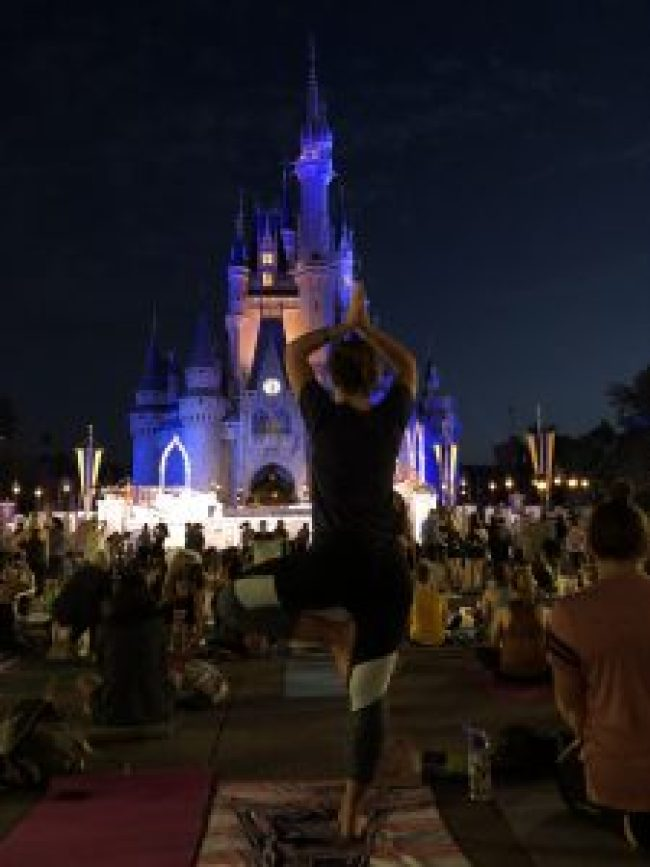 5:30am in the Magic Kingdom for Sunset Yoga
