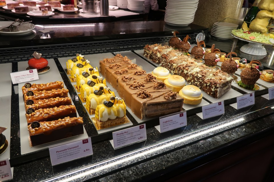 Cakes at Cafe Central, Vienna Austria