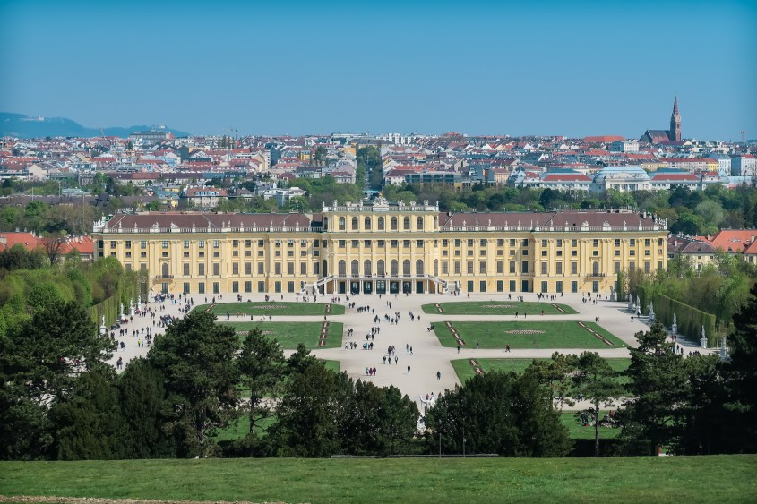View Of Vienna From Schonbrunn Palace