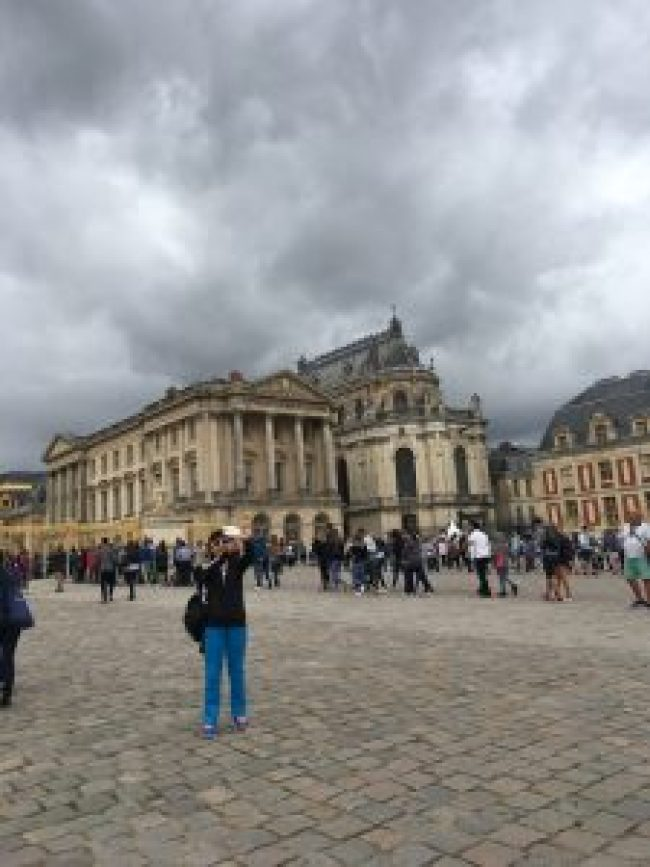 Crowds at Palace Of Versailles - Paris France